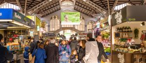 valencia marknad panorama 300x130 - Valencia, Spain - February 24, 2018: People Are Shopping At The Central Market Of Valencia, Spain